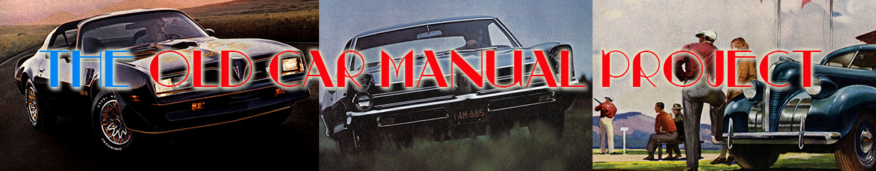 Pontiac manuals from the Old Car Manual Project