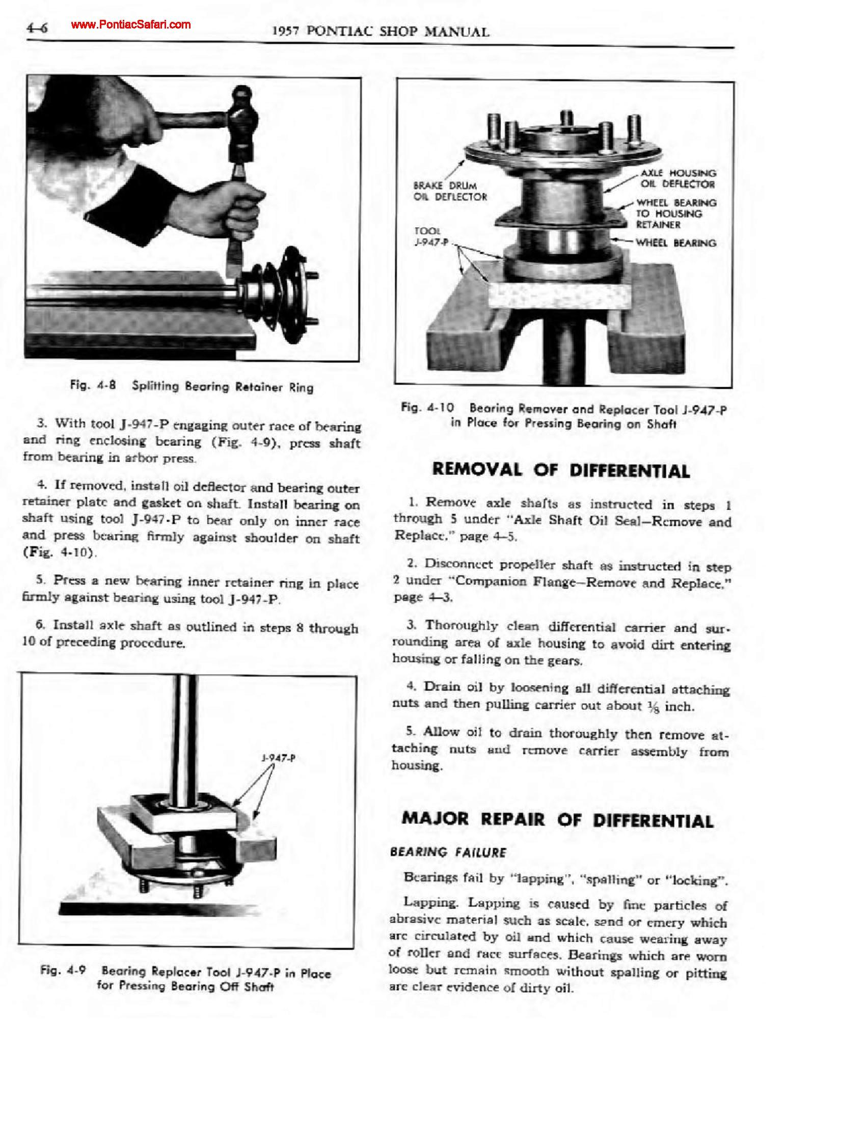 1957 Pontiac Shop Manual - Rear Suspension Page 6 of 31